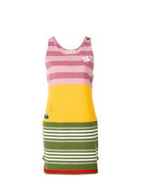 Vestido de tirantes de rayas horizontales en multicolor de Marni