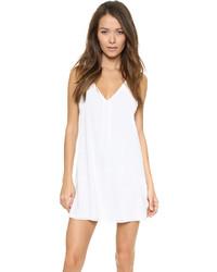 Vestido de tirantes de seda blanco de Alice + Olivia