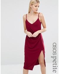 Vestido de tirantes de seda rojo de Asos