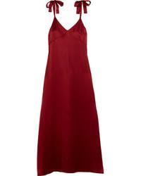 Vestido de tirantes de seda rojo de Reformation
