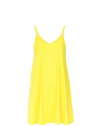 Vestido de tirantes en amarillo verdoso de Lygia & Nanny