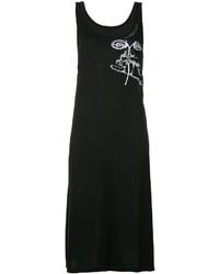 Vestido de tirantes estampado negro de Maison Margiela