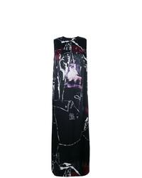 Vestido de tirantes estampado negro de McQ Alexander McQueen