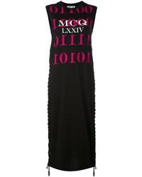 Vestido de tirantes estampado negro de MCQ