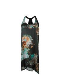 Vestido de tirantes estampado negro de Minimarket