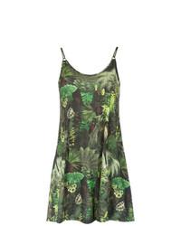 Vestido de tirantes estampado verde oliva de Lygia & Nanny