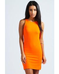 Vestido de tirantes naranja