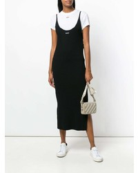 Vestido de tirantes negro de Off-White
