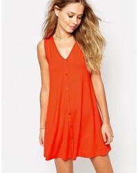 Vestido de tirantes rojo de Asos