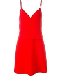 Vestido de tirantes rojo de Carven