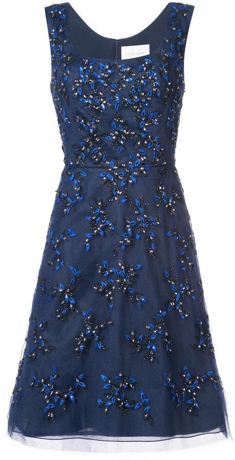 Carolina herrera vestido azul marino