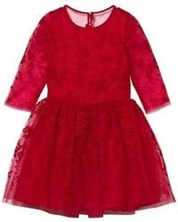 Vestido de tul rojo