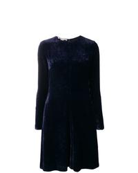 Vestido de vuelo azul marino de Stella McCartney