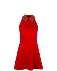 Vestido de vuelo con adornos rojo de Philipp Plein