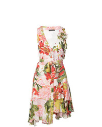 Vestido de vuelo con print de flores en multicolor de Josie Natori