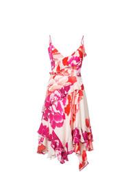 Vestido de vuelo con print de flores rosa de Josie Natori