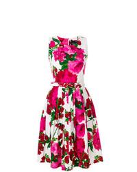 Vestido de vuelo con print de flores rosa de Samantha Sung