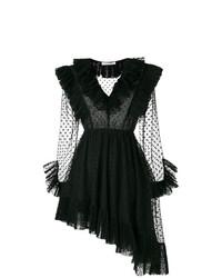 Vestido de vuelo de encaje negro de Philosophy di Lorenzo Serafini