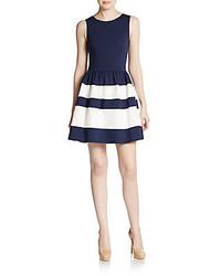 926293089e Comprar un vestido de vuelo de rayas horizontales azul marino ...