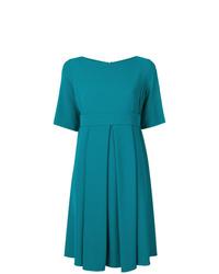Vestido de vuelo en verde azulado de P.A.R.O.S.H.