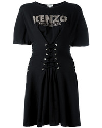 Vestido de vuelo negro de Kenzo