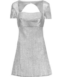 Vestido De Vuelo Plateado de Sandro