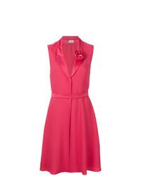 Vestido de vuelo rosa de Lanvin