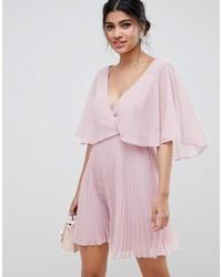 Vestido de vuelo rosado de ASOS DESIGN