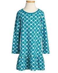 Vestido en verde azulado