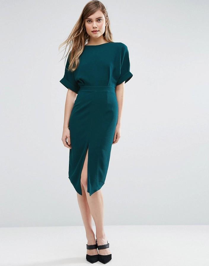Vestido verde azulado