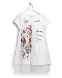 Vestido estampado blanco de Simonetta