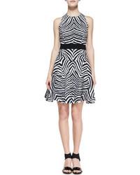 Estados Unidos color rápido construcción racional Cómo combinar un vestido estampado en blanco y negro (34 ...