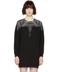 Vestido estampado negro de Marcelo Burlon County of Milan
