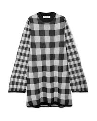 Vestido jersey a cuadros gris de McQ Alexander McQueen