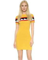 Vestido jersey amarillo de Dsquared2