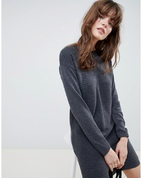 Vestido jersey de punto en gris oscuro de ASOS DESIGN