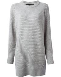 Vestido jersey de punto gris