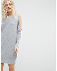 Vestido Jersey de Punto Gris de Asos