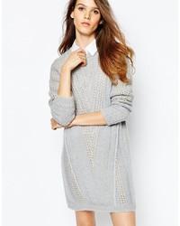 Vestido jersey de punto gris de See by Chloe