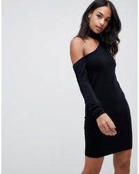Vestido jersey de punto negro de ASOS DESIGN
