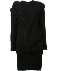 Vestido jersey de punto negro de Le Ciel Bleu