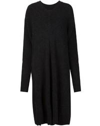 Vestido jersey de punto negro