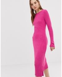 Vestido jersey de punto rosa de ASOS DESIGN