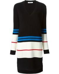 Vestido jersey de rayas horizontales en negro y blanco de Givenchy