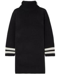 Vestido jersey de rayas horizontales en negro y blanco de Madewell