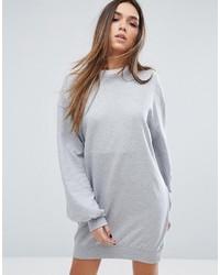 Vestido jersey desgastado gris de Missguided