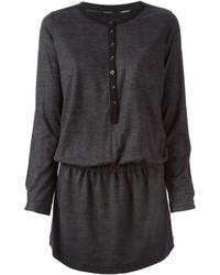 Vestido jersey en gris oscuro de Burberry