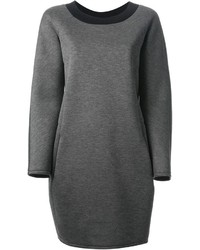 Vestido jersey en gris oscuro de Jil Sander