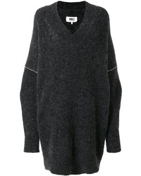 Vestido jersey en gris oscuro de MM6 MAISON MARGIELA