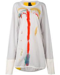 Vestido Jersey Estampado Blanco de Bernhard Willhelm
